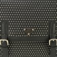 QQ1728 Black - Crossbody Bag With Studs And Buckle Detail