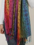 SF1136-3 - Rainbow Color Butterfly Scarf With Tassels