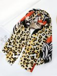 SF1341-GRN - Womens Oversized Scarf With Serpentine