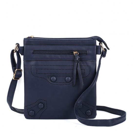 VK5347 Navy - Across Body Bag With Strap