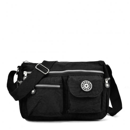 VK5414 Black - Sports Waist Cross Body Bag