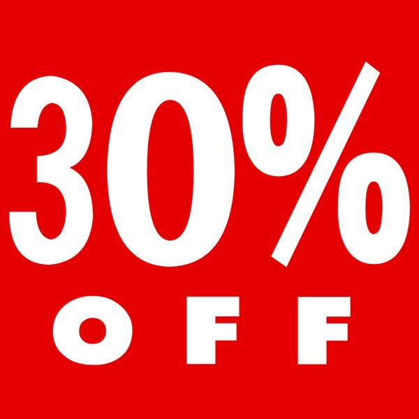 big sale 13483 dbba2 PS12 Red - 30% Off Cardboard Shop Sign