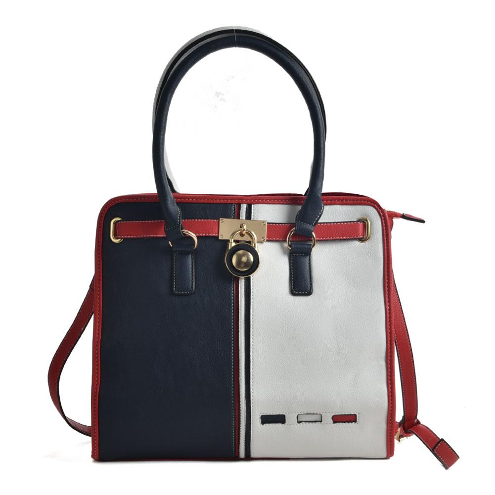 776b832c1cc0 K0028 White - Contrasting Colors Square Handbag For Women larger image