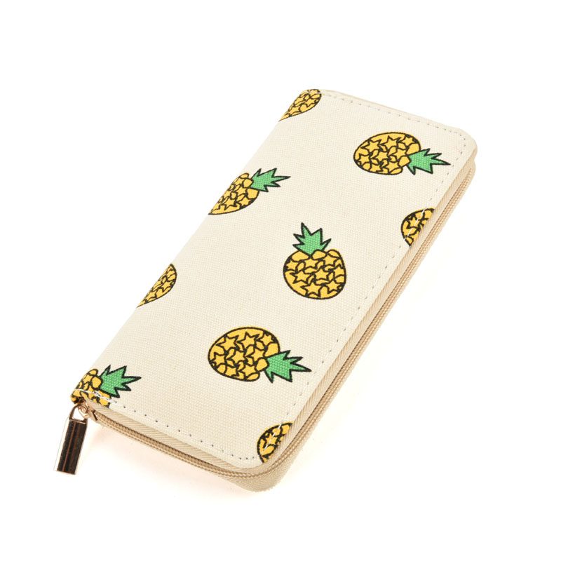 QQ2163 G - Pineapple Pattern Casual Long Wallet