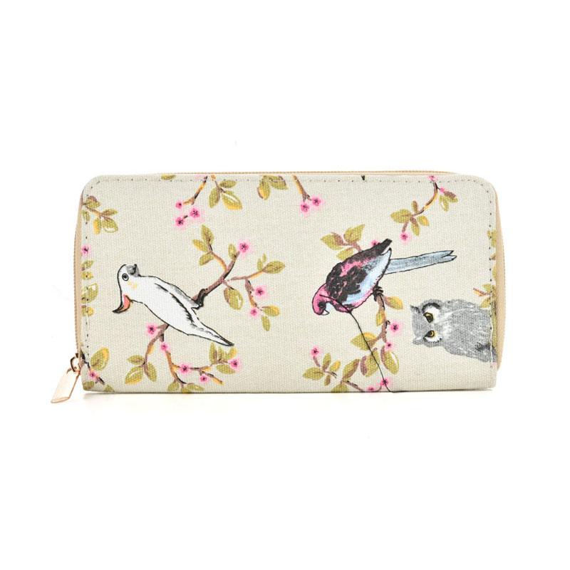 QQ2163 H - Owl Pattern Casual Long Wallet