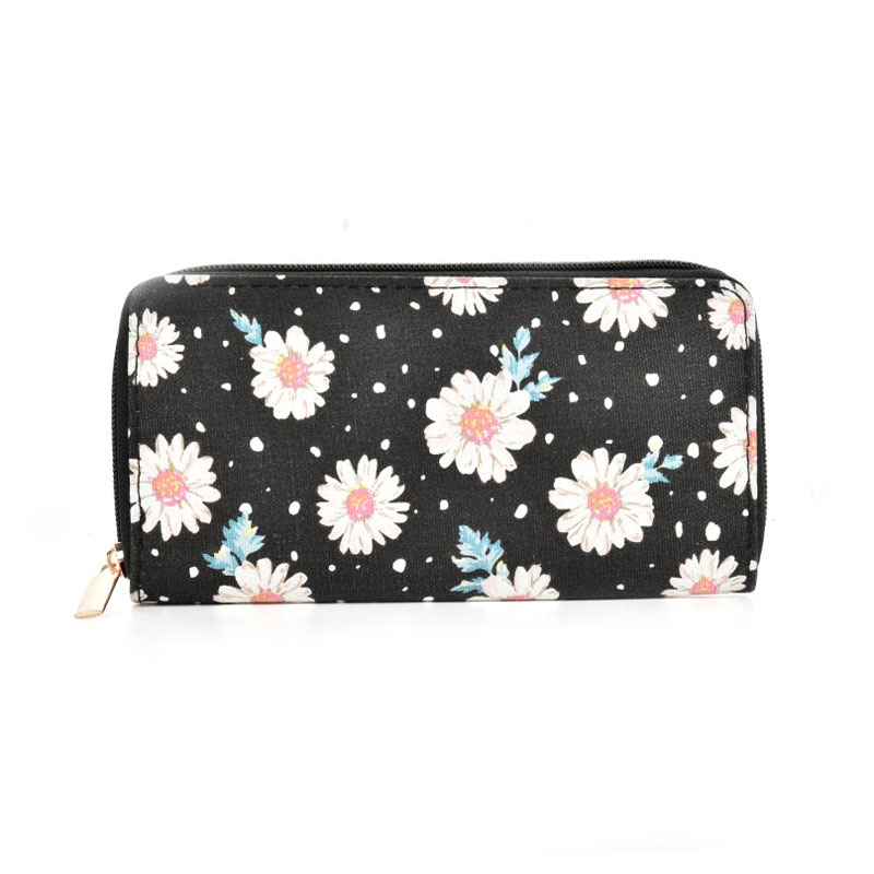 QQ2163 S - Chrysanthemum Pattern Casual Long Wallet