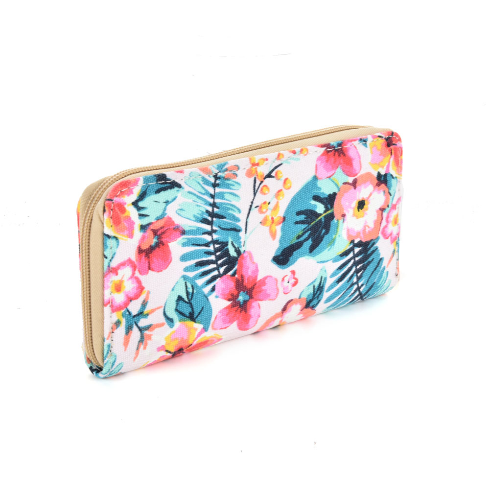 QQ2163 T - Floral Pattern Casual Long Wallet