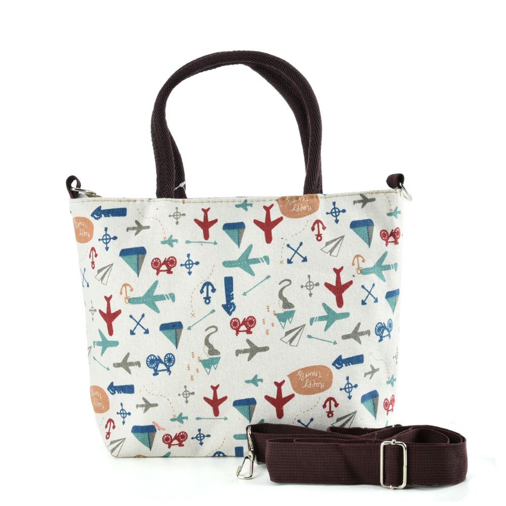 QQ White Cartoon Shopping Tote Bag - Cartoon handbags