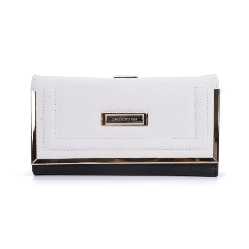 SY1565-1 White - Sally Young Boutique Foldable Purse Wallet