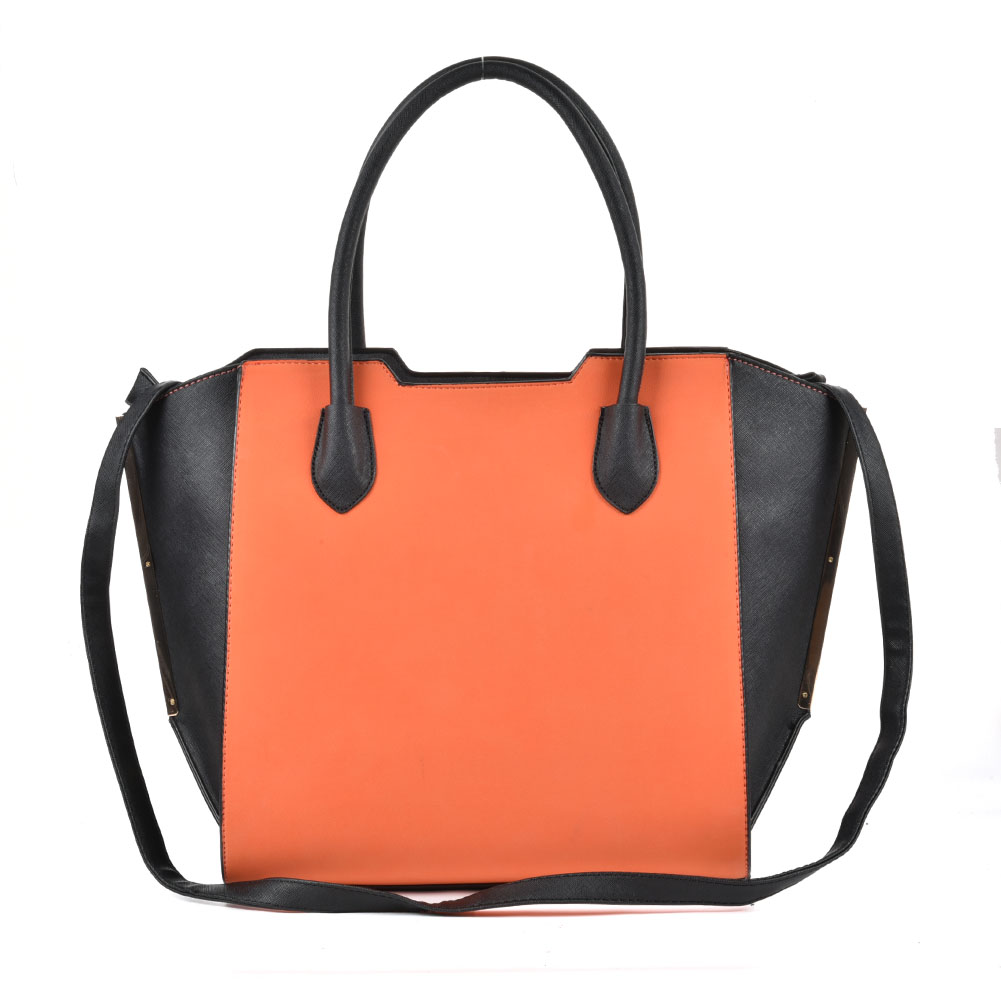 SY2124 Orange - Sally Young Fashion Patchwork Bat Package Women Hangbag