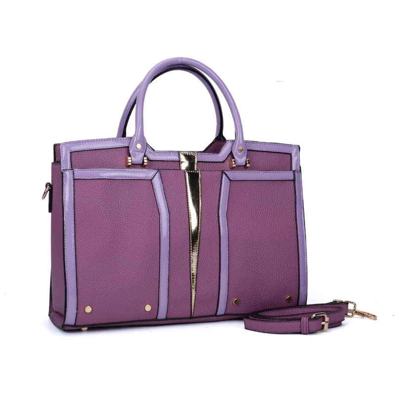 SY5032 Purple - Classic Women Casual Patchwork Handbag