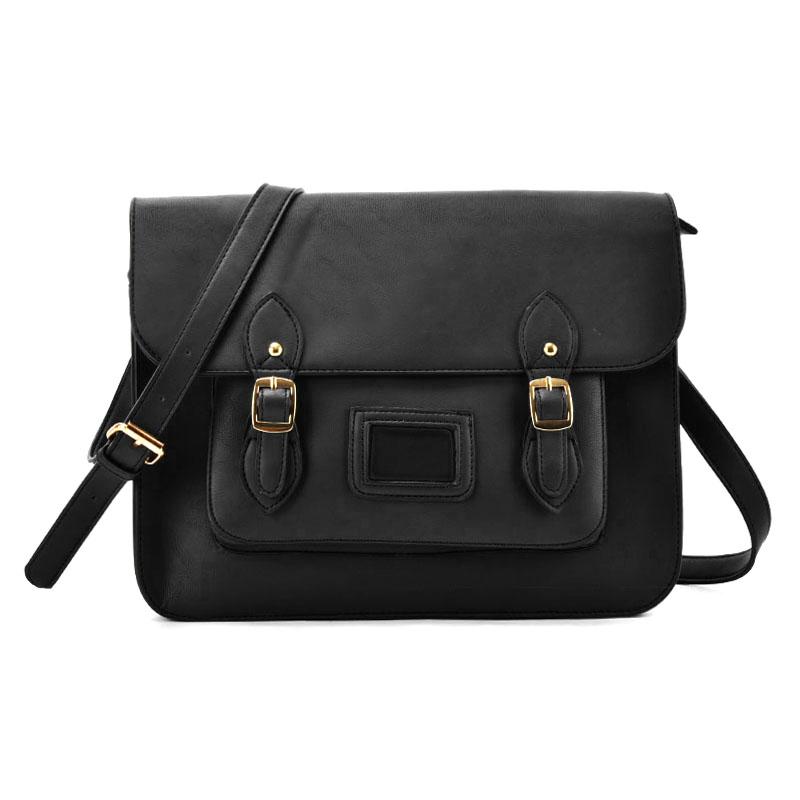 35e0162f86dc VK2093 Black - Cambridge Style Satchel Messenger Bag  5056083936502 ...