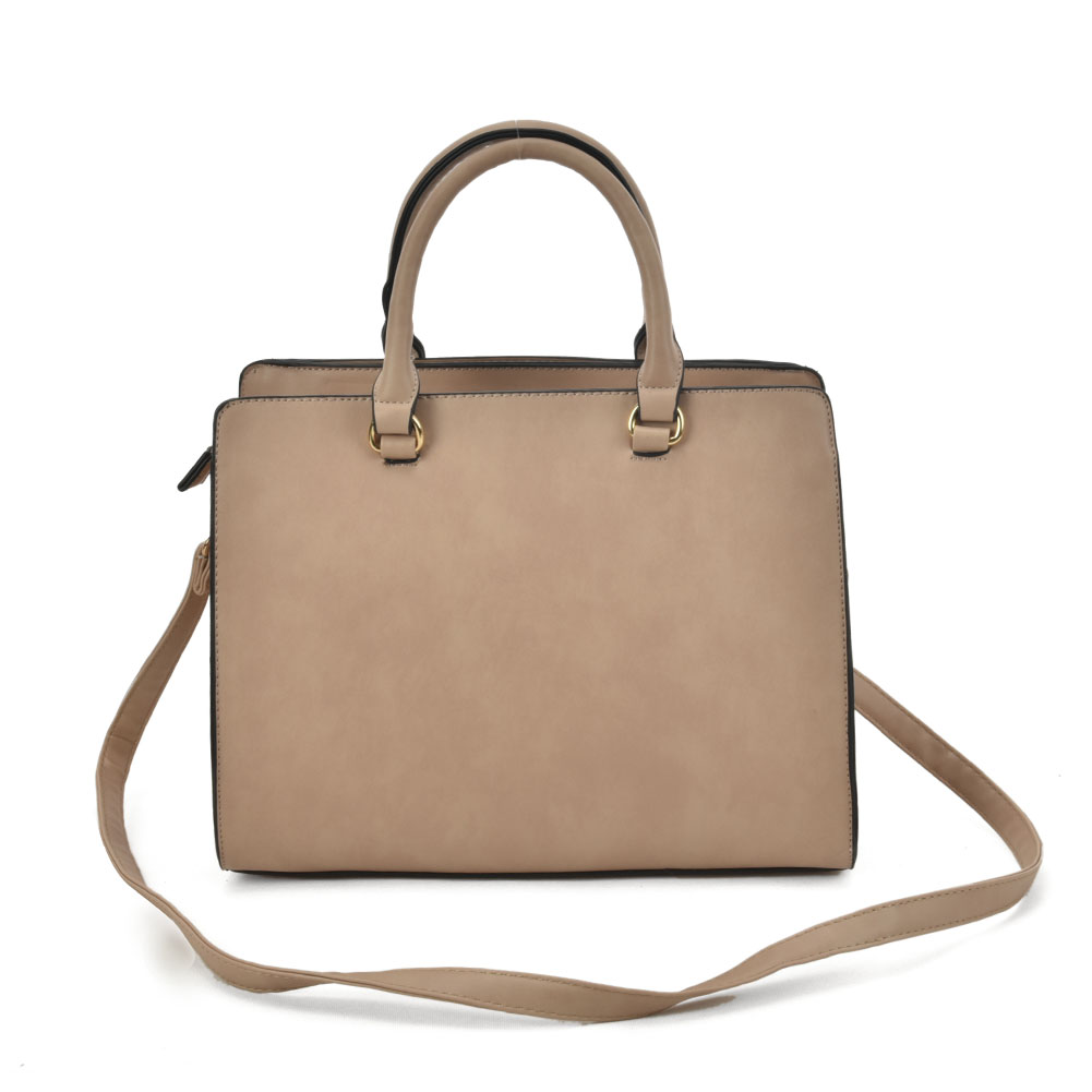 VK2095 Apricot - Studded Oversized Tote Bag
