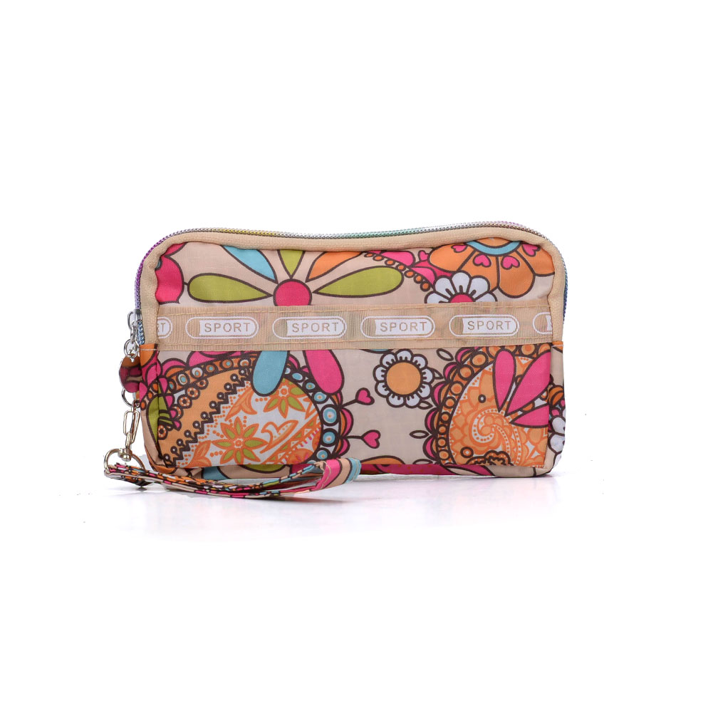 VK5253 C - Chrysanthemum Pattern Large Wallet