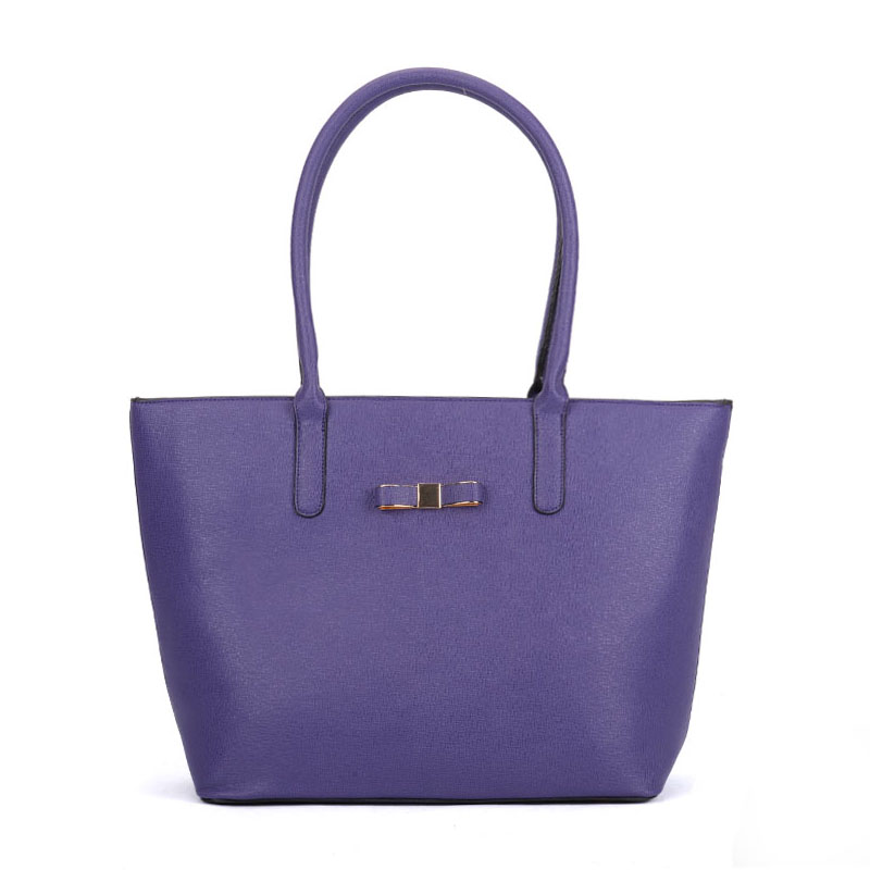 VK5323 Purple - Classic Large Box Winged Tote Bag