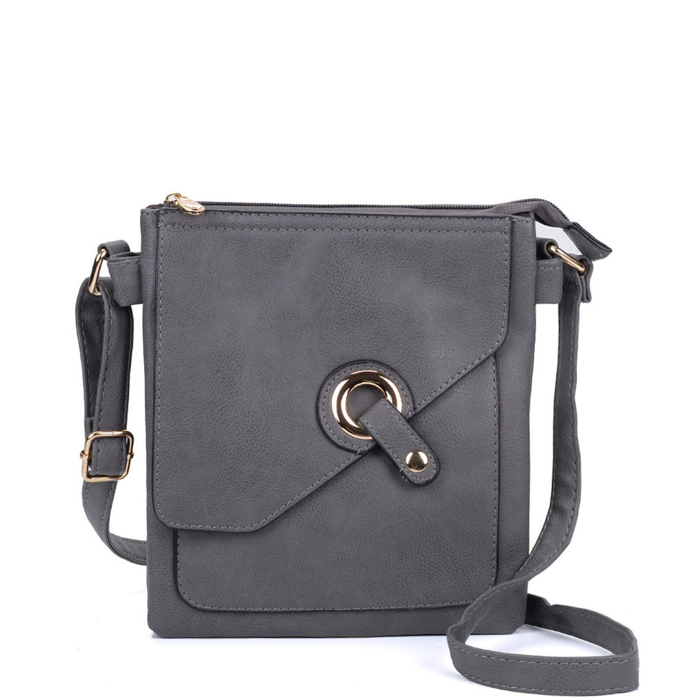 VK5348 Grey - Across Body Bag With Strap
