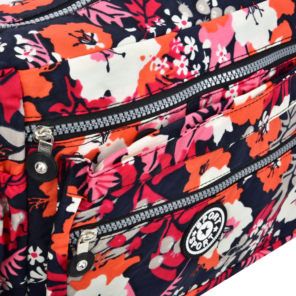 VK5417 I - Colorful Floral Sports Waist Bag - Click Image to Close