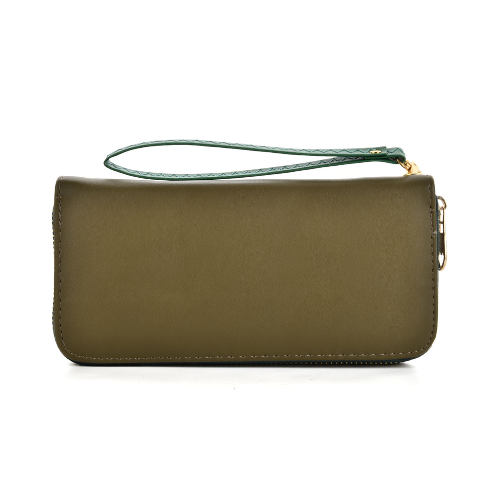 VKP1432 Green - Women Simple Solid Straps Purse