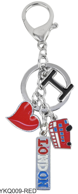 YKQ009 Red - I Love London Keyring