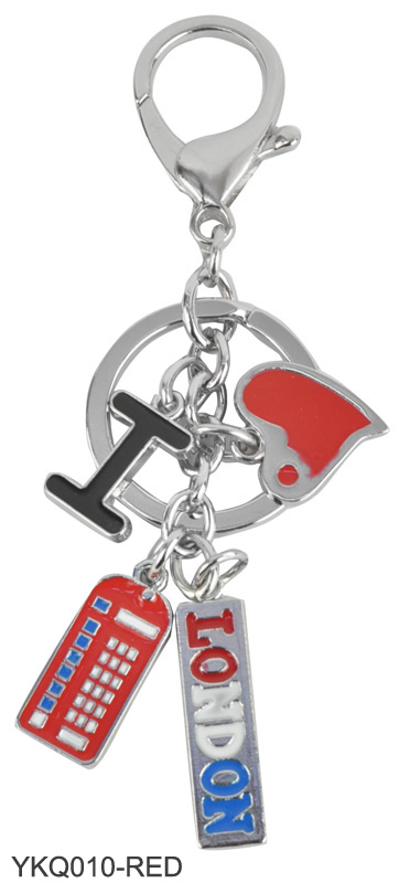 YKQ010 Red - I Love London Keyring