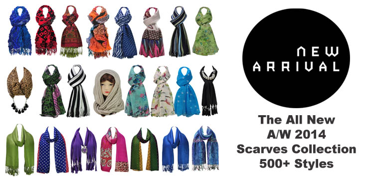 THE ALL NEW A/W 2014 SCARVES COLLECTION ARRIVED! 500+ STYLE