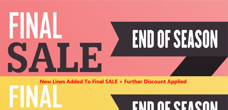 FINAL SALE- FURTHER REDUCED + NEW LINES ADDED