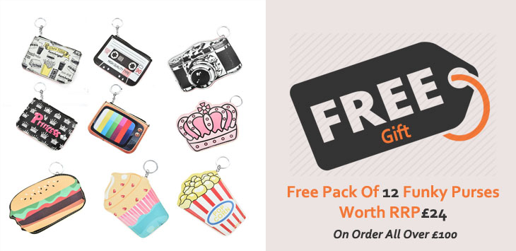 FREE! Pack Of 12 Funky Purses Collection Worth £24