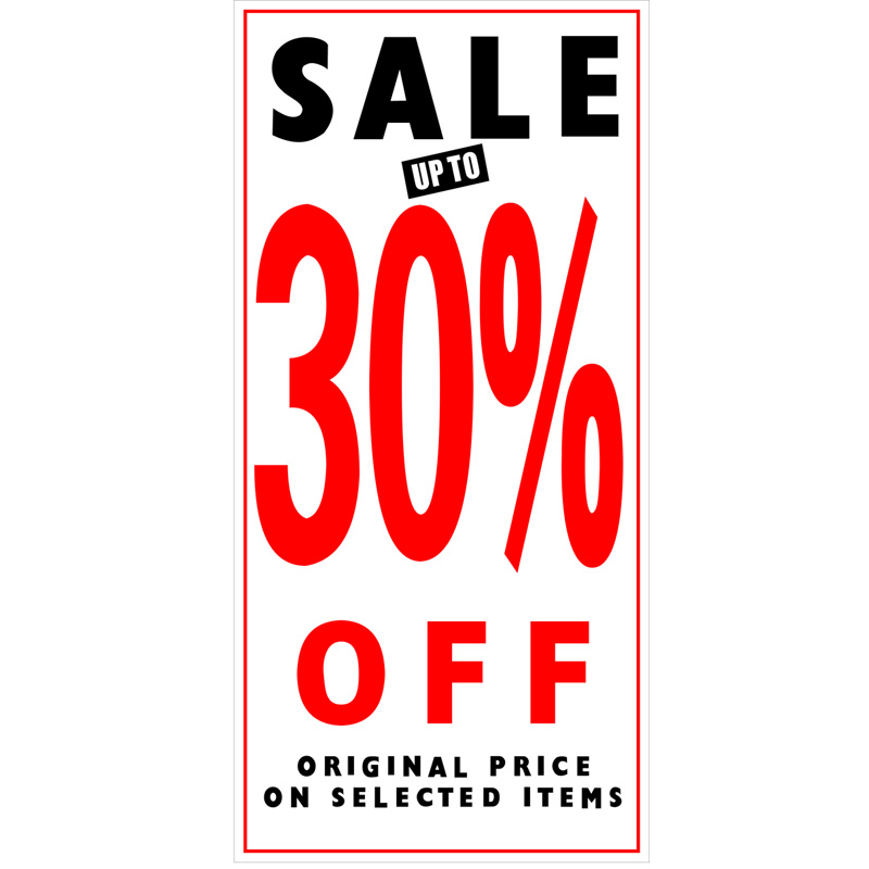 buy online ba4e7 23157 PS18 Red - Promotion Price Banner Sale Up To 30% Off