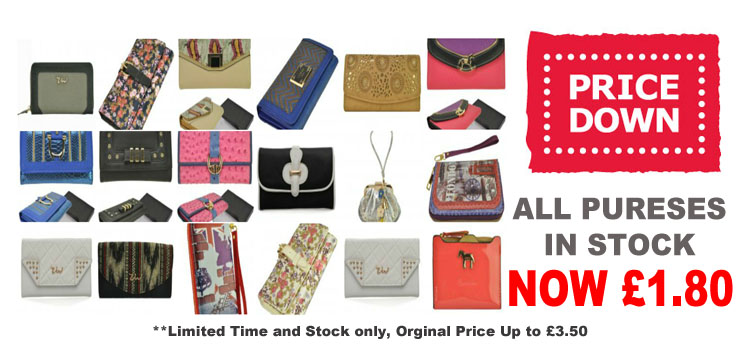BIG PURSES SALE!! ALL Purses In Stock Only £1.80