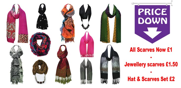 Sale Now On! Scarves £1, Handbags Up To 50% OFF