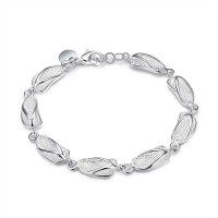 H155 Latest Women Classy Design silver plated bracelet Factory Direct Sale
