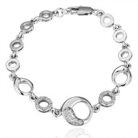 B028 Good QualityNickle Free Antiallergic 2015 New Fashion Jewelry 18K Real Gold Plated Bracelets For Women