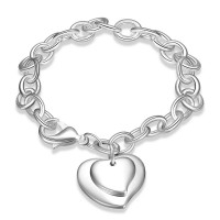H279 Latest Women Classy Design silver plated bracelet Factory Direct Sale