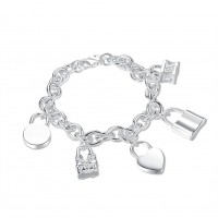 H158-2 Latest Women Classy Design silver plated bracelet Factory Direct Sale