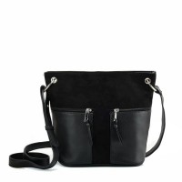 Ex-Chain Store Dorothy Perkins Black Cross Body Bag with Tag RRP£20