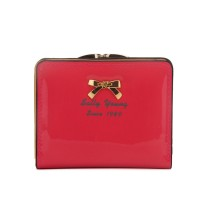 LBQ404 Watermelon Red - Sally Young Bow Detail Foldable Short Purse Women Wallet