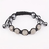 B072colourful jewelries jewelry Wholesale fashion Bracelet Clay Disco Ball colourful jewelries Bracelets for women crystal charm