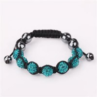 B074colourful jewelries jewelry Wholesale fashion Bracelet Clay Disco Ball colourful jewelries Bracelets for women crystal charm