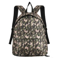QQ2088 Green - Fashion Simple Camouflage Print Oxford Backpack School Rucksack