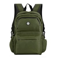 QQ2013-1 Green - Simple Solid Travel Oxford Backpack School Rucksack
