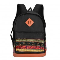 QQ2114 Assort colour - Printing Patterns Student Backpack School Bag