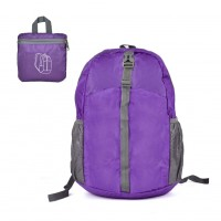 QQ2113 Purple - Foldable Waterproof Backpack Handbag Lightweight Portable Shoulder Bag for Outdoor Sports Travelling Hiking Mo