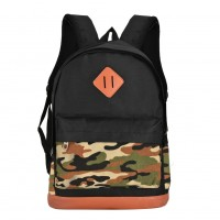 QQ2126 Green - Student Camouflage Pattern Backpack School Bag