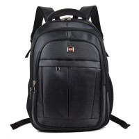 QQ2142 Black - Simple Solid Fashion Travel School Backpack