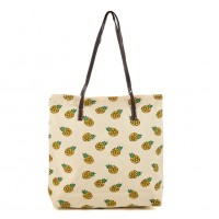 QQ2162 G - Pineapple Pattern Large Handbag