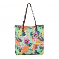 QQ2162 P - Leaf Pattern Large Handbag