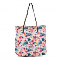 QQ2162 T - Floral Pattern Large Handbag