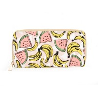 QQ2163 A - Banana Pattern Casual Long Wallet