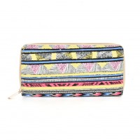 QQ2163 I - Stripes Pattern Casual Long Wallet