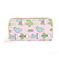 QQ2163 M - Cactus Pattern Casual Long Wallet